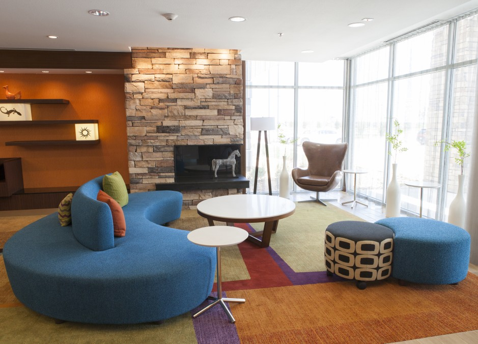 Four Fairfield Inn & Suites Interior Lobby in Eagle Ford Shale