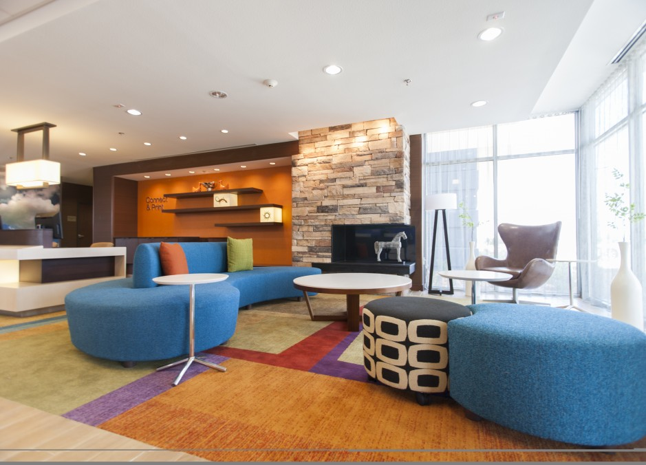 Four Fairfield Inn & Suites by Marriot Lobby in Eagle Ford Shale
